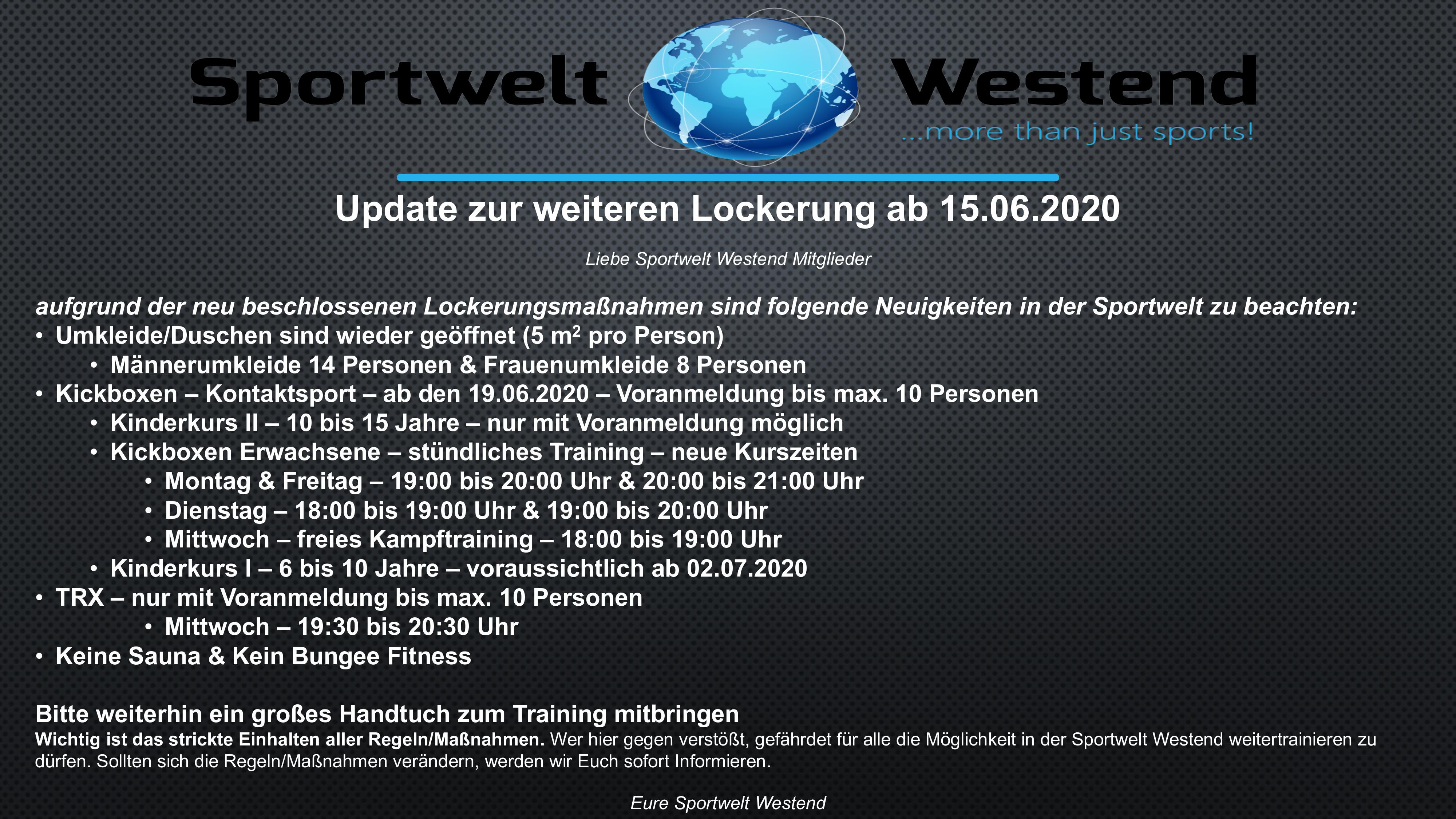 Update Lockerung 15062020